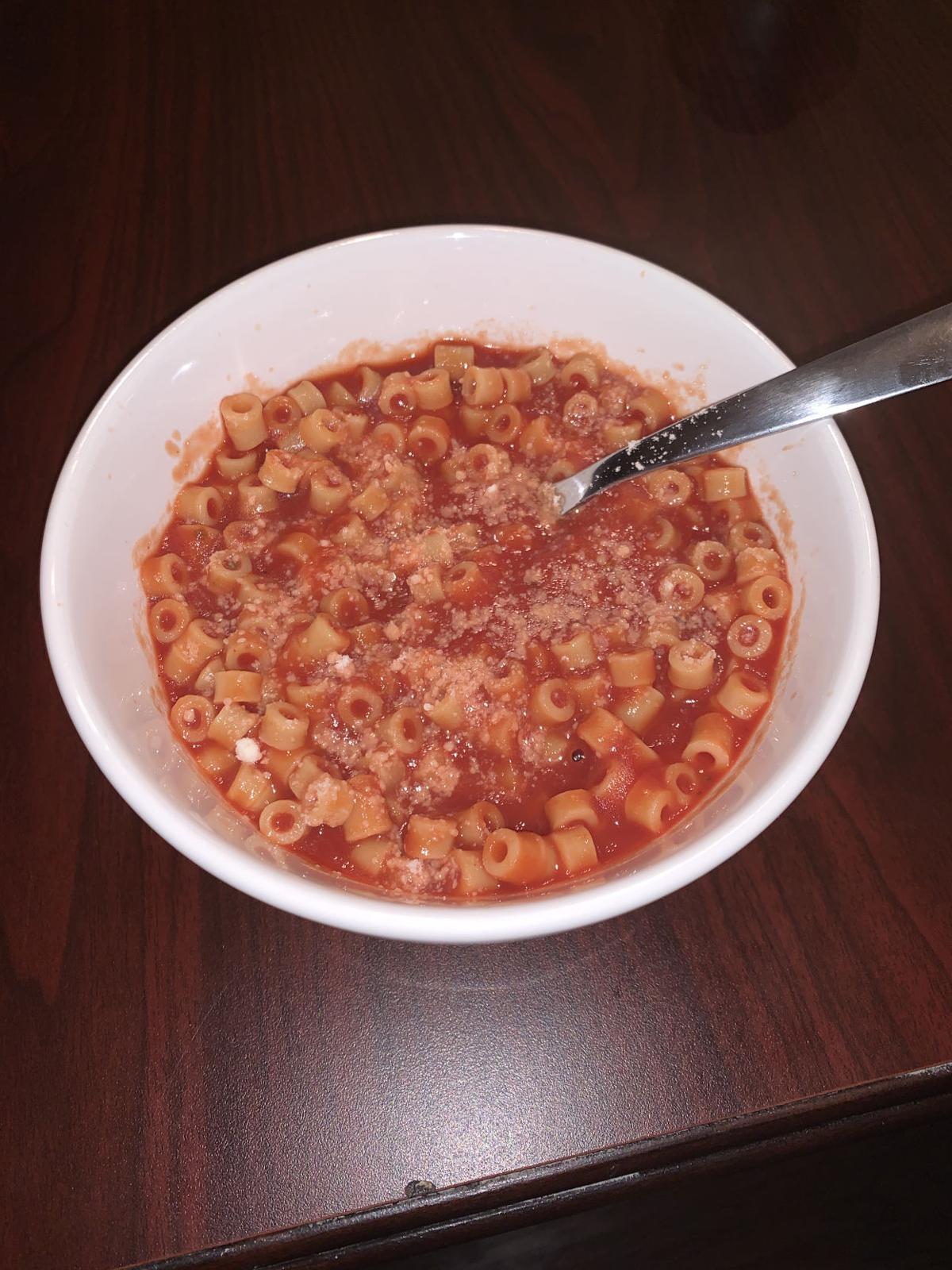 Homemade spaghettis