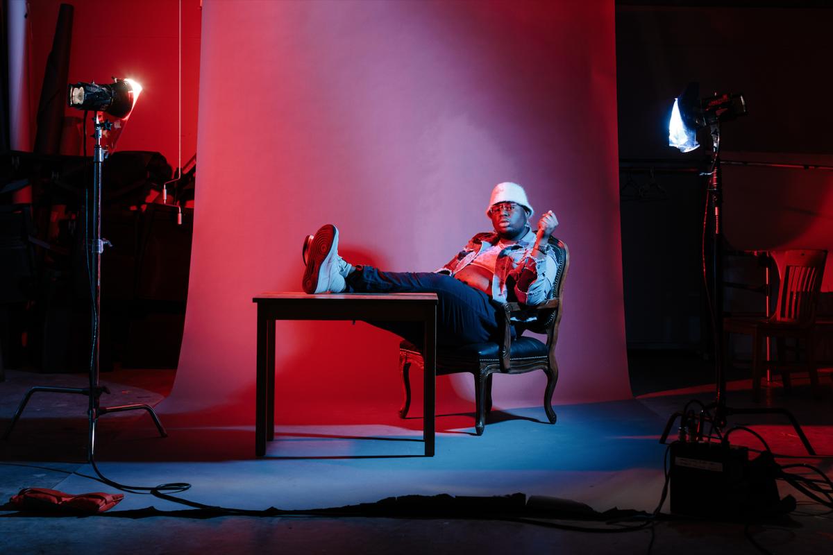 Gabriel Levi in chair