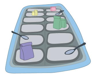 Animated image of a buffet style meal