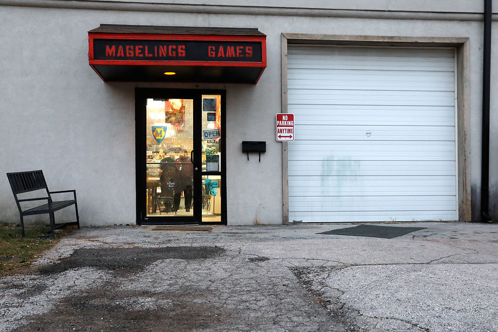 Facade of Mageling Games on Providence Road