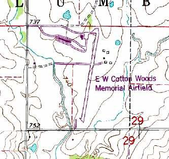1981 Map of Woods Memorial Airport