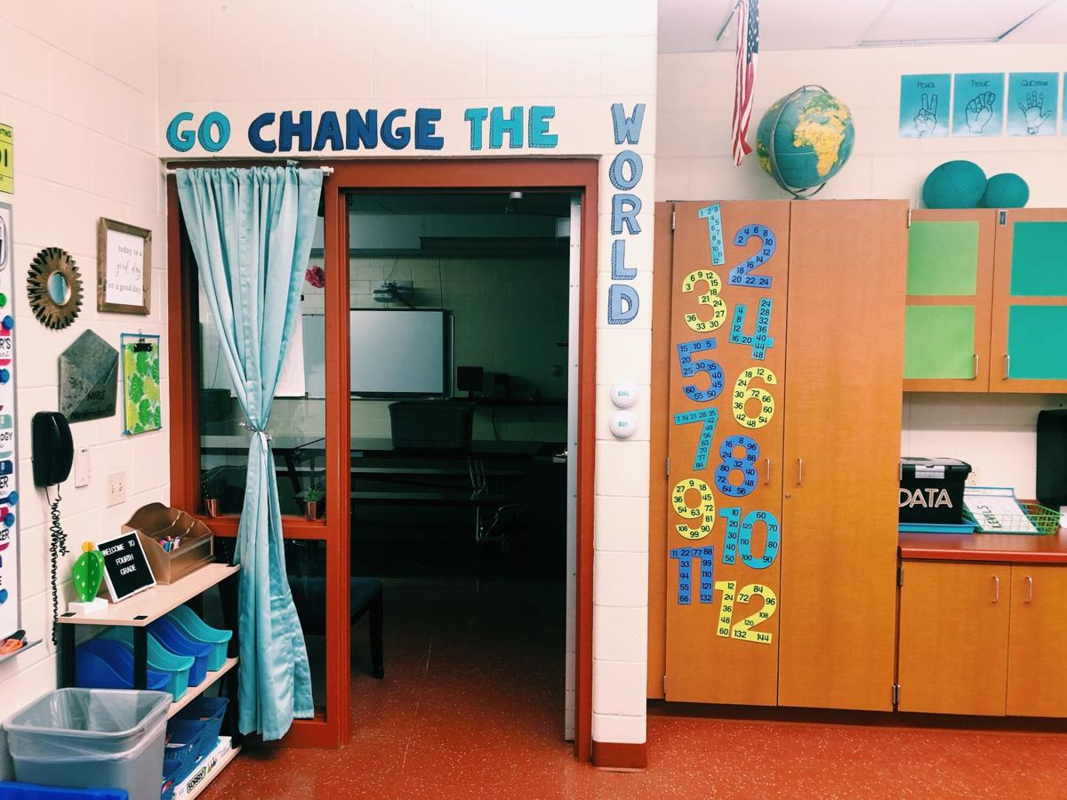 Classroom door photo