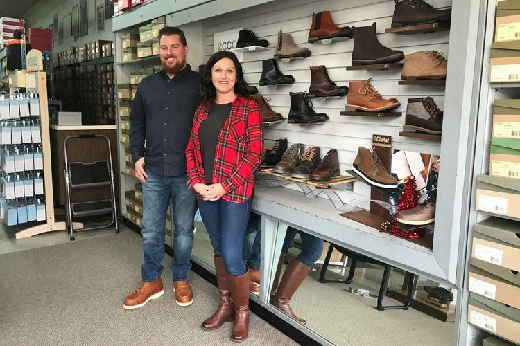 Dryer's Show Store owner Justin Riley and manager Amy Briscoe