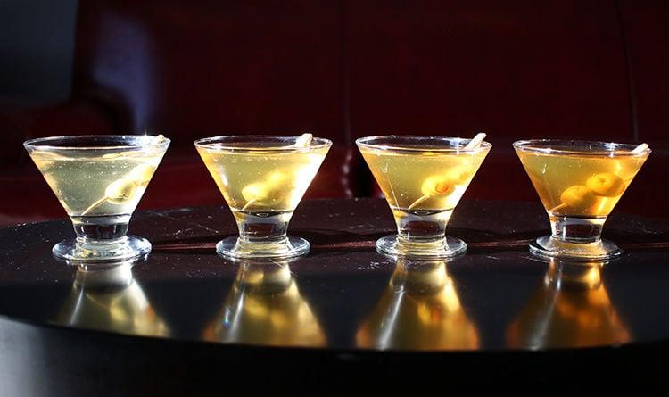 Dirty martinis at DogMaster