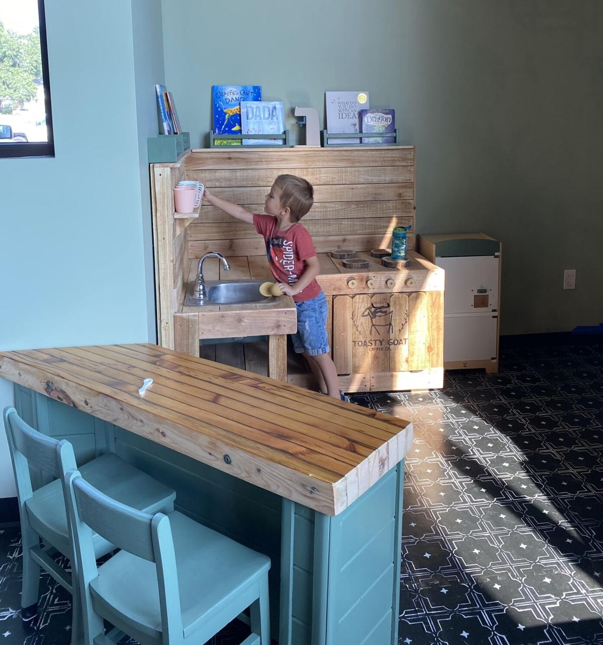 Child plays in Toasty Goat's play area