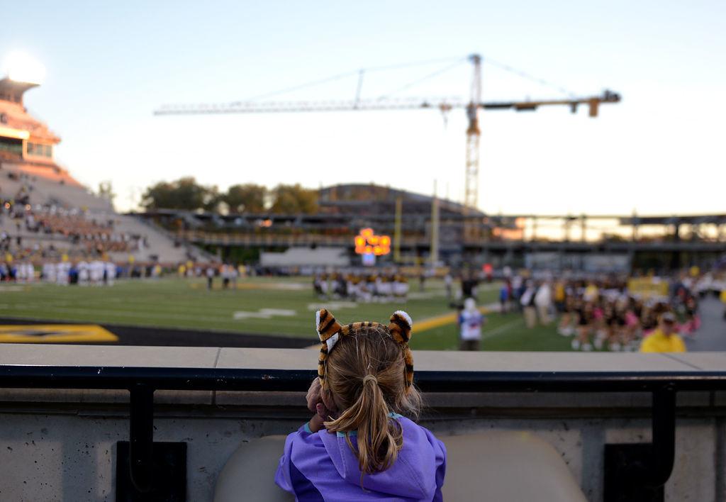Allie Huechteman, 8, watches in the final quarter