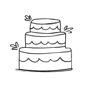 Debt wedding cake