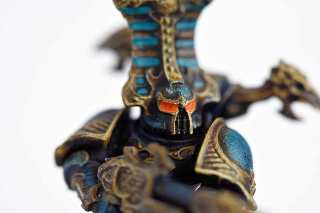 Warhammer figurine that stands approximately 1.1 inches tall