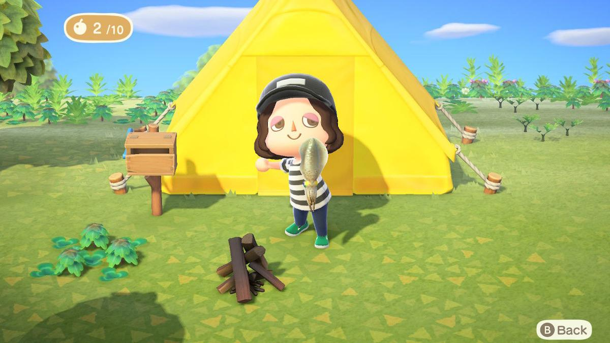 Animal Crossing: New Horizons deserted island tent