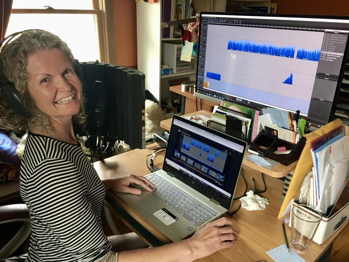 Diane Moxon in studio