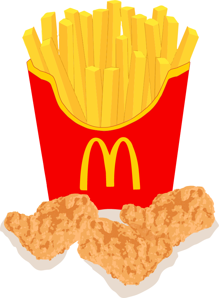 McDonalds Chicken Nuggets and Fries