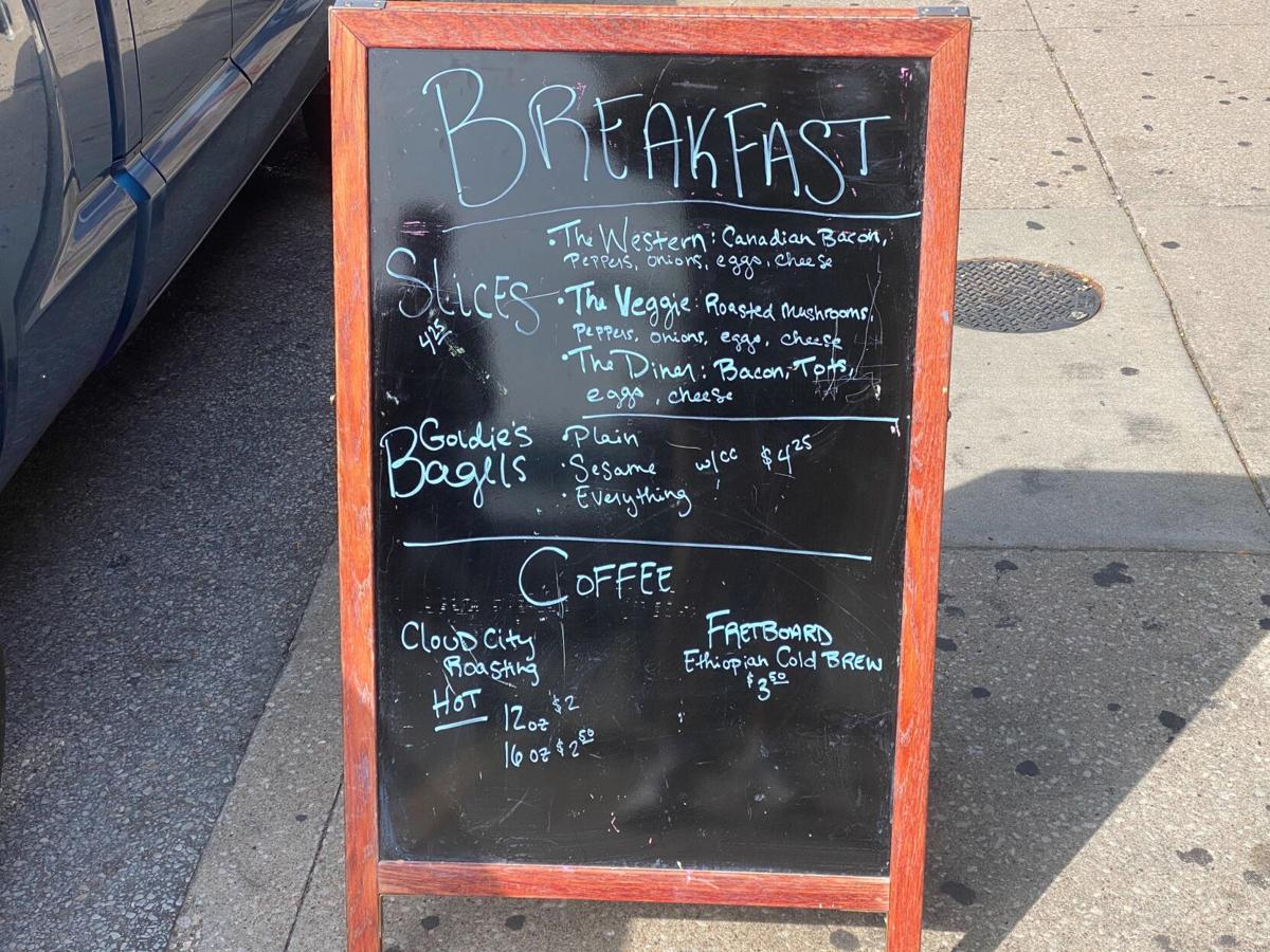 Pizza Tree breakfast sign