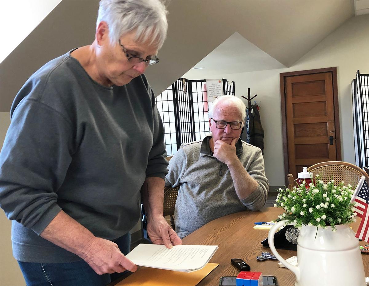John Hillock and Susan Roberts meeting