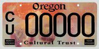 Cultural Trust license plate available in Oregon