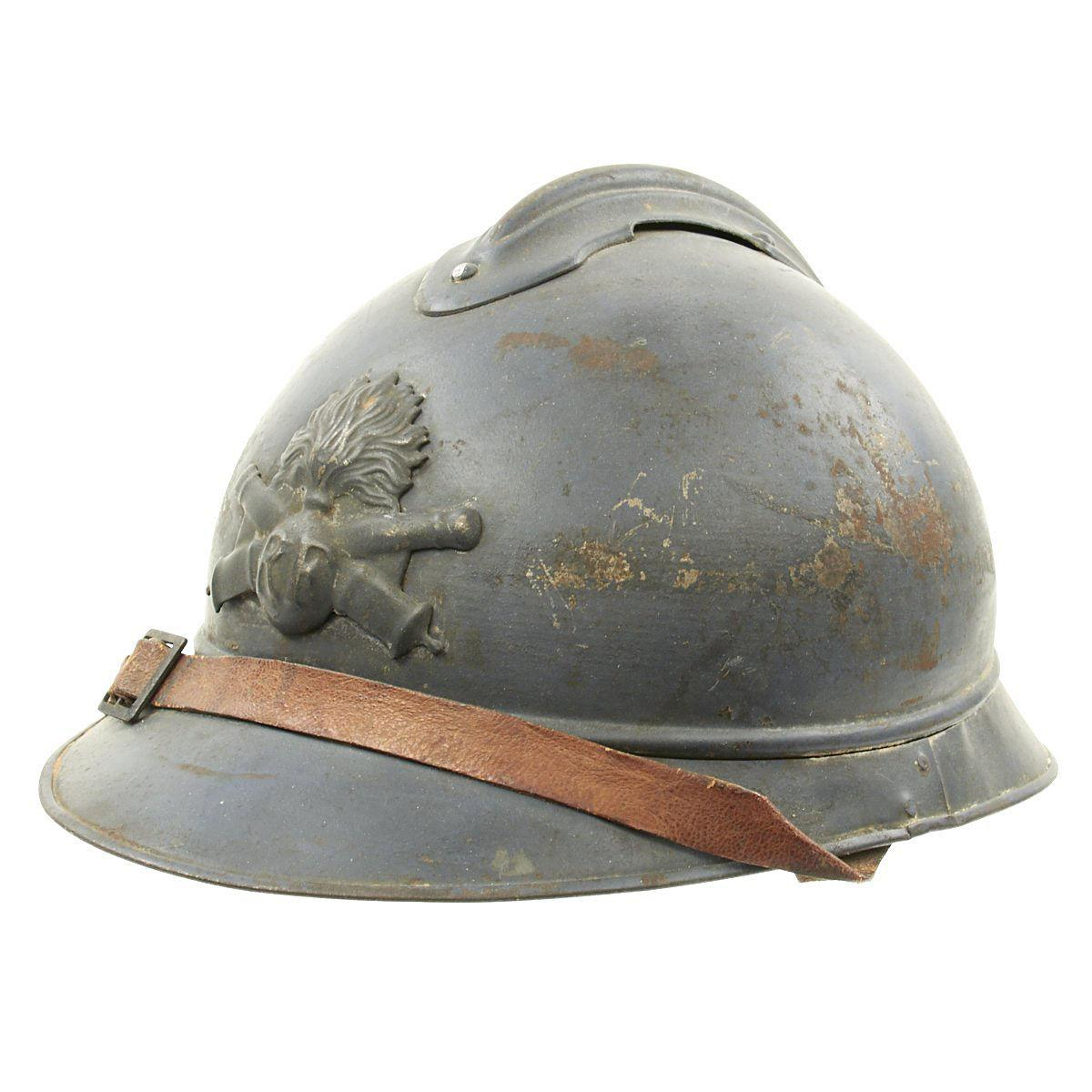 WWI French artillery Adrian helmet.jpg