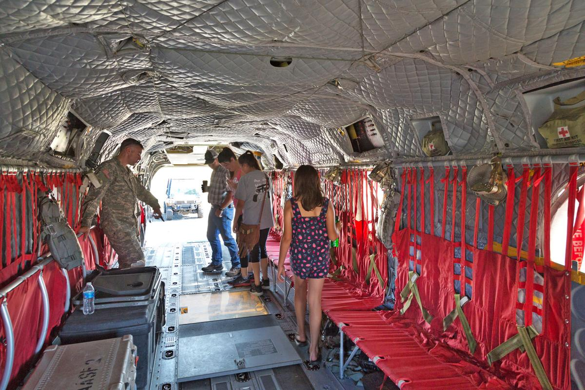Fly-in Chinook interior