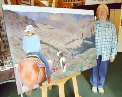 Tippett donates prize painting back to veterans