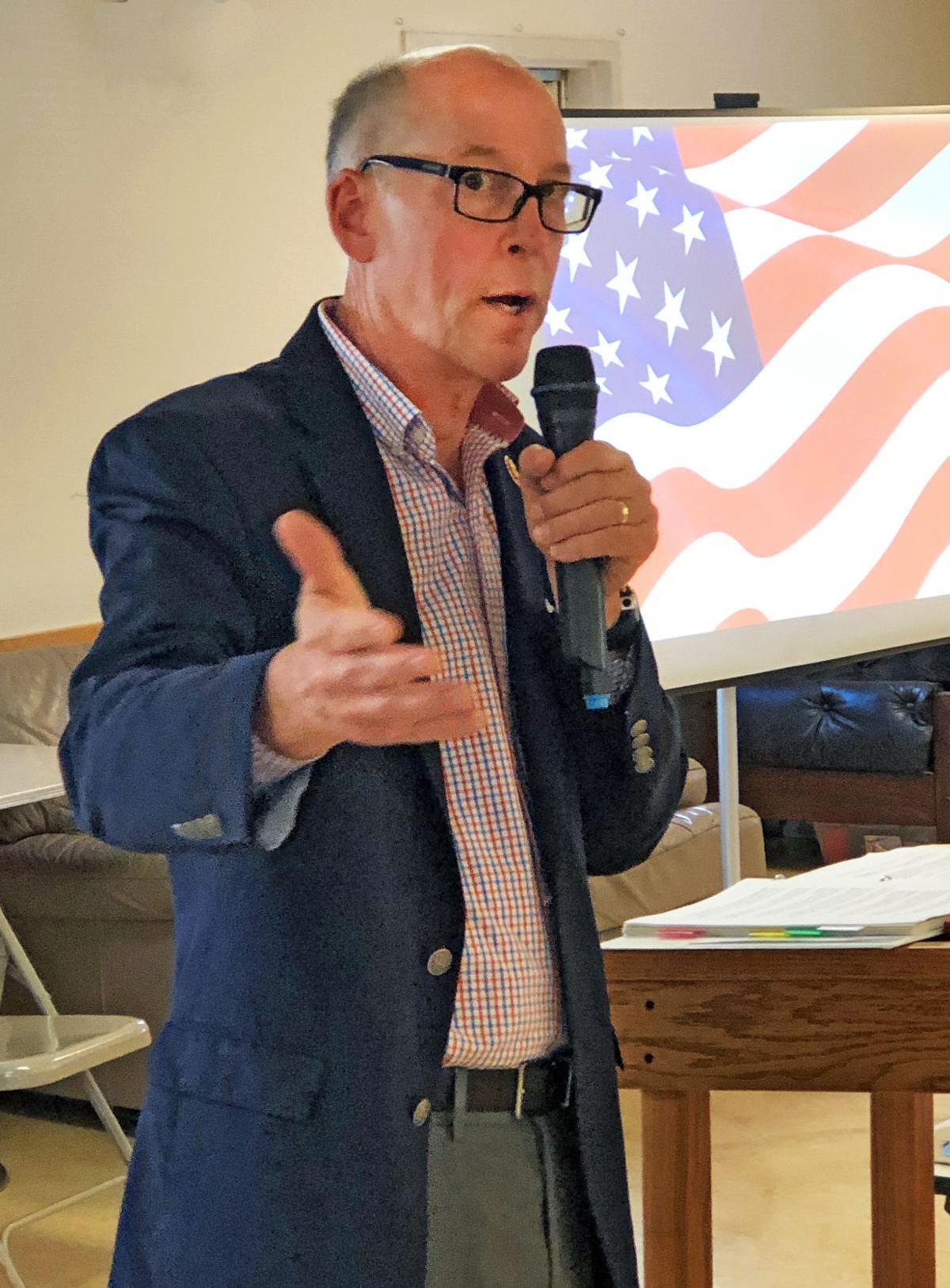 Greg Walden fields questions at Wallowa Senior Center Town Hall