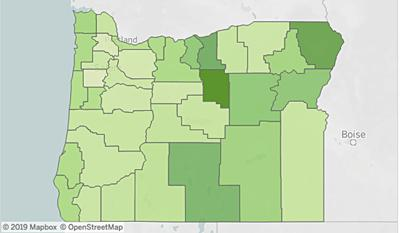 Oregon nonprofits per capita
