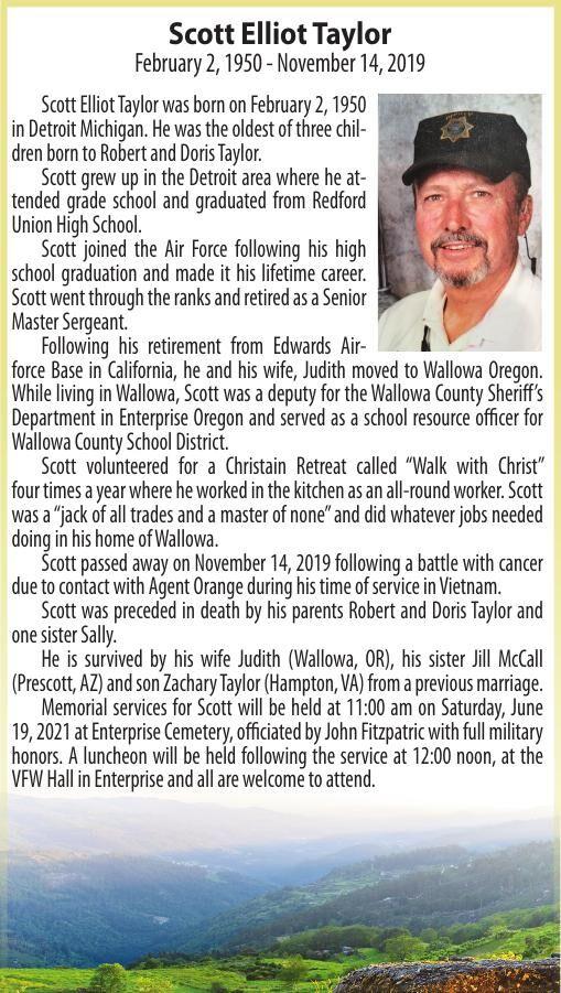 Obituary: Scott Elliot Taylor, February 2, 1950 - November 14, 2019