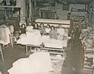 Enterprise Laundry, located at the site of what is now the DMV. Left to right, Melba Zollman, Mervin Zollman, Patricia Zollman