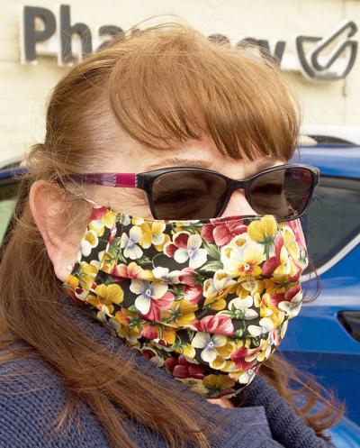 masked woman