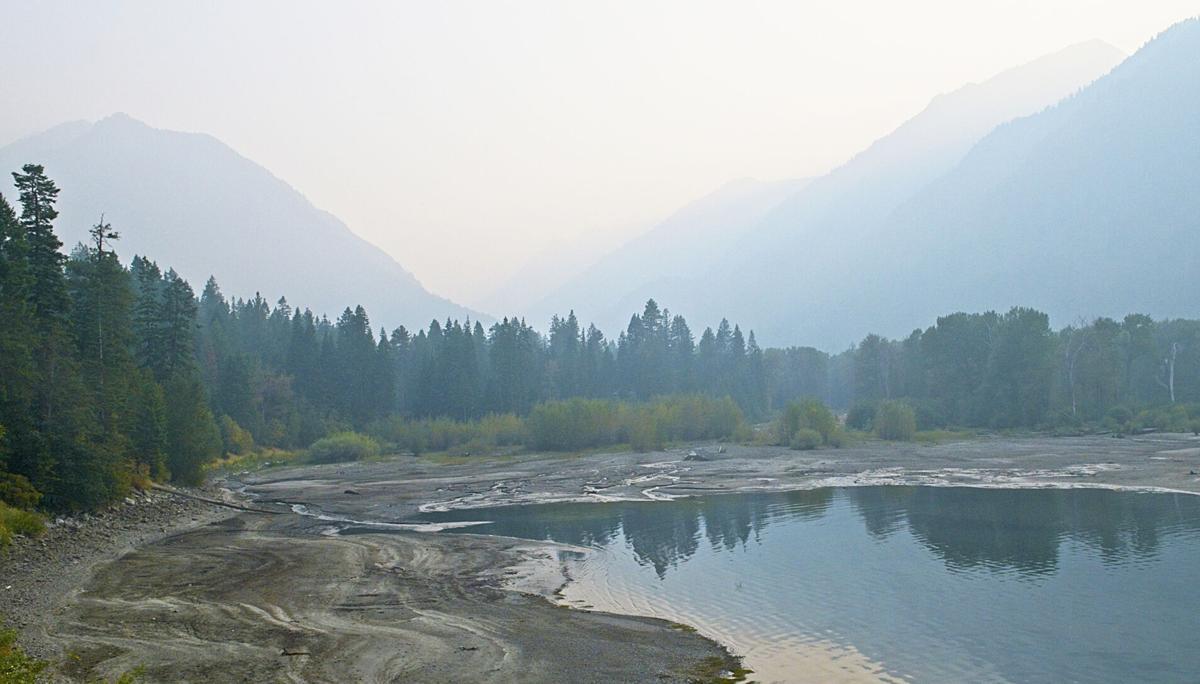 Smoke at Wallowa Lake village