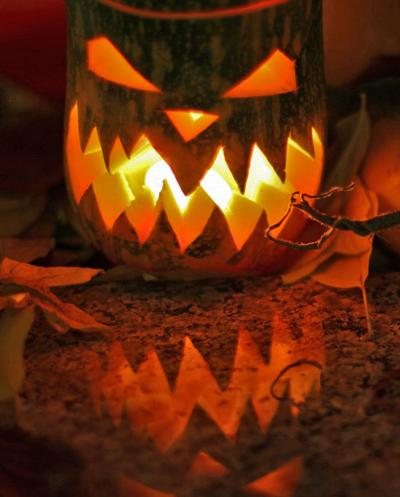 Lamp pumpkin for witch