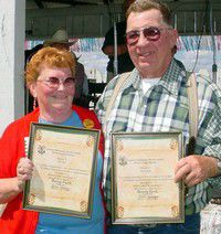 Grange presents service awards at county fair