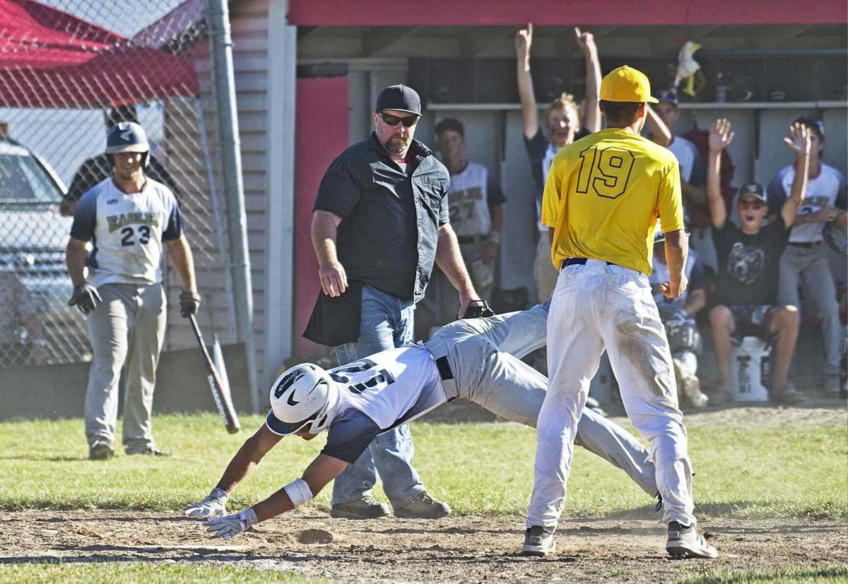 Trace Evans steals home