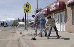 Big sweep: Over 50 volunteer for Enterprise clean-up