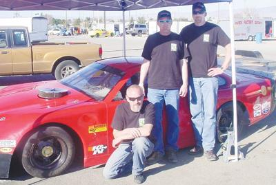 Hayes brothers and car ready for the races