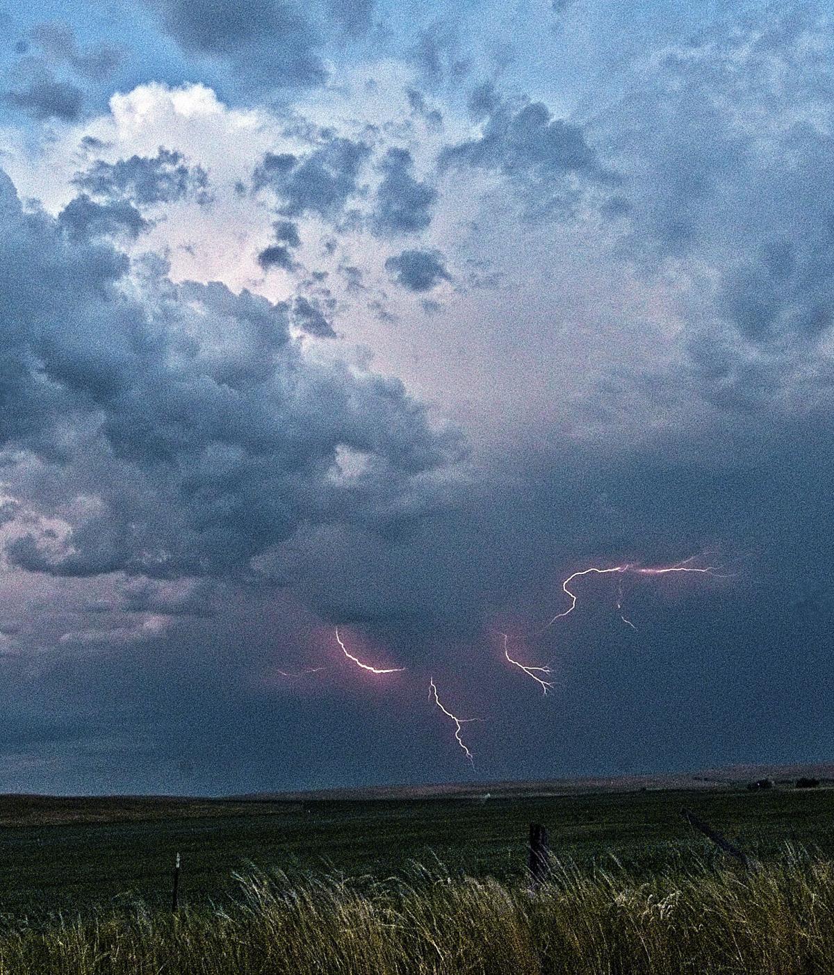 Lightning over Prairie Creek