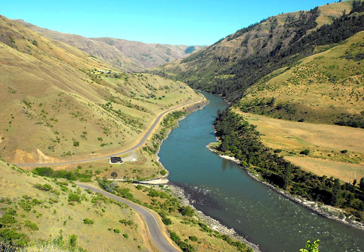 The Nipéhe/Coopers Ferry area along the Salmon River, Idaho.