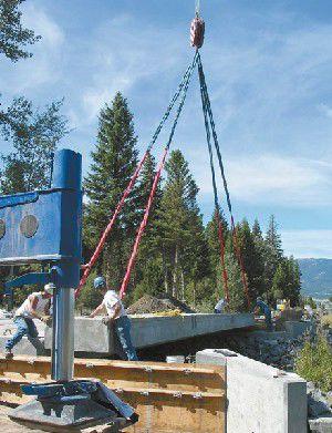 Bridge construction continues