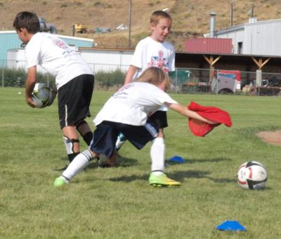 Soccer players from U.K. lead camp