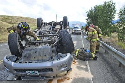 Rollover on the North Highway