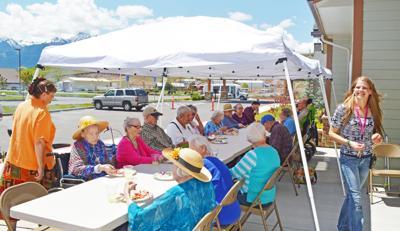 Seniors enjoy block party barbecue