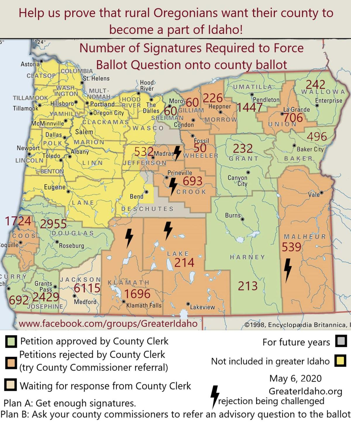 Greater Idaho petitions