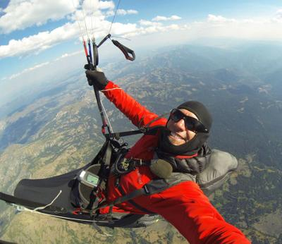 Local paraglider first to traverse Hells Canyon