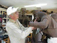 Joseph sculptor works on Lewis and Clark commission