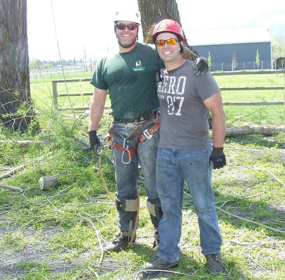 Brother mentors brother in tree care