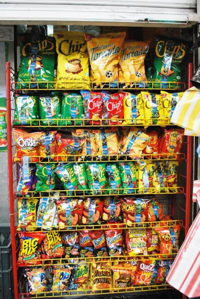 processed snack foods chips