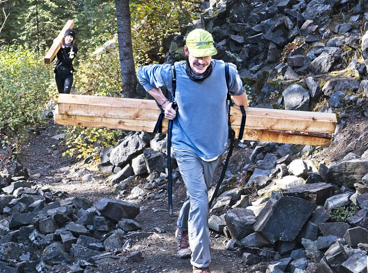 Timbers up the trail