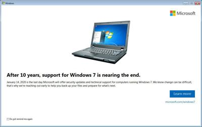 windows 7 loses tech support tech tips