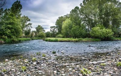 Lostine and Wallowa river confluence
