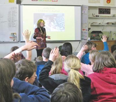 Children's book author  visits local classrooms