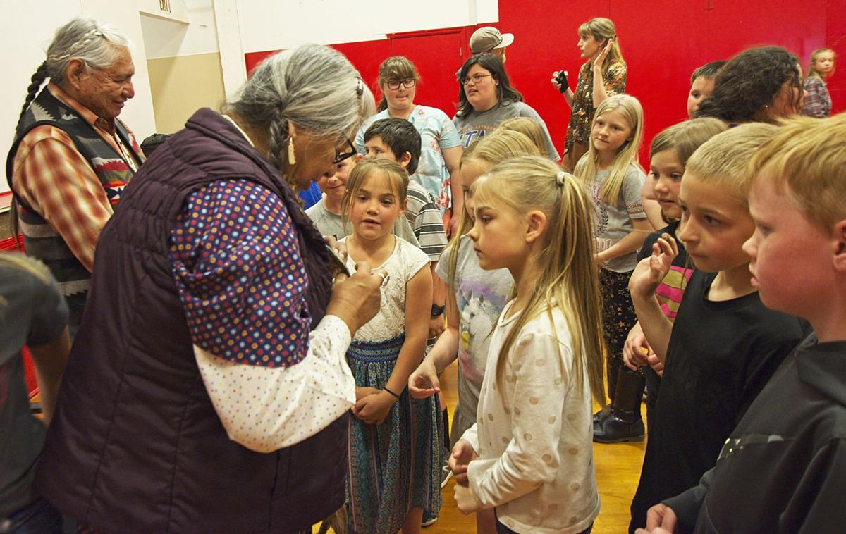 Nez Perce Elders and kids