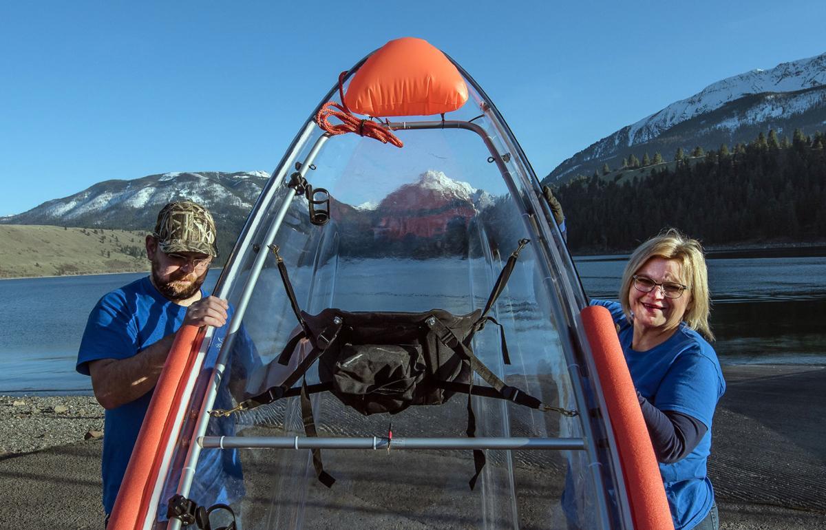 Glass-bottom kayaks