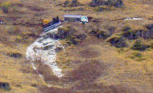 Fertilizer spill 'not hazardous'